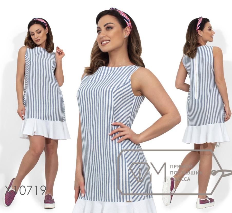 5aee6c7ab335b Льняное платье большого размера ТМ Фабрика моды батал Одесса интернет-магазин  одежды р. 48