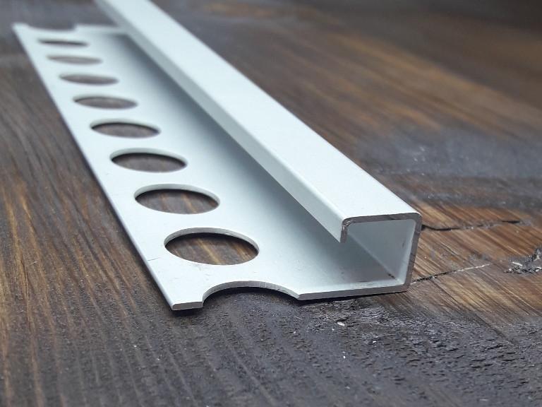 Профиль для плитки квадратный 13.5x13.5. Длина 2,7м