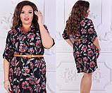 Стильное цветочное платье, фото 2