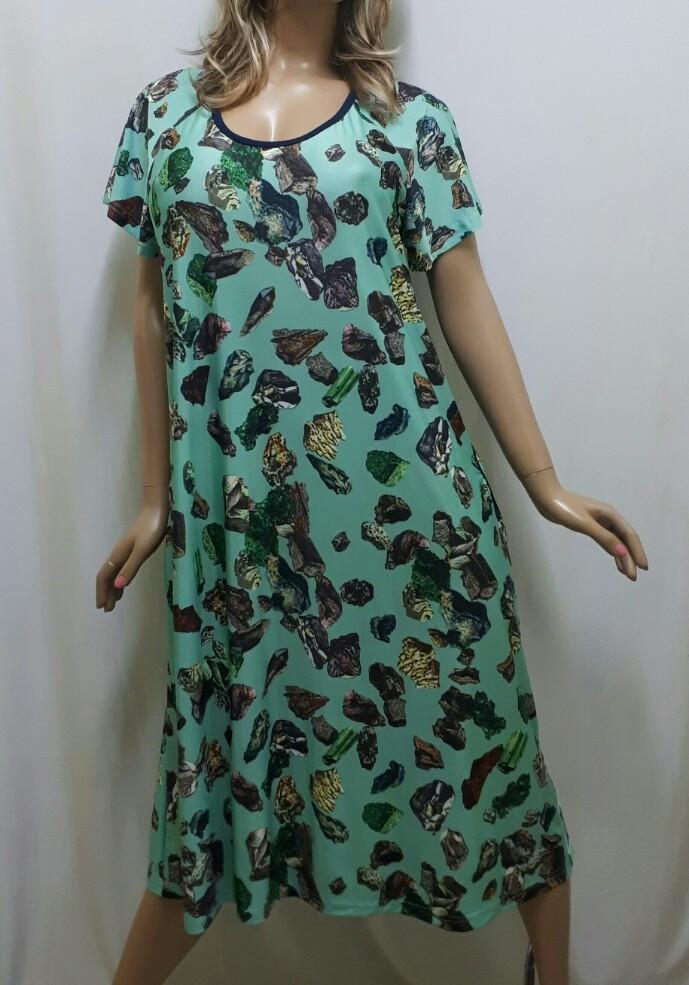 Платье большого размера с карманами из ткани микро-масло, от 50 до 62 р-ра