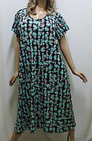 Платье большого размера с карманами из ткани микро-масло, от 50 до 62 р-ра, фото 3