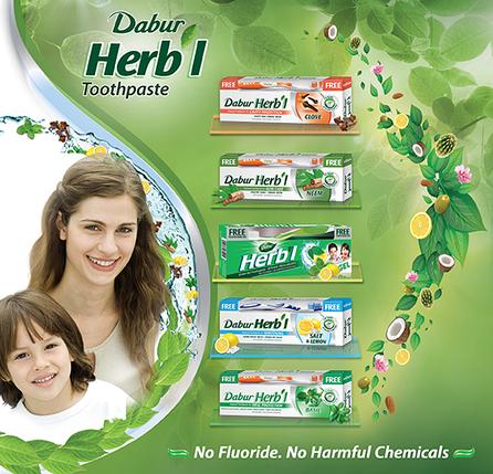 Зубная паста Sensitive Dabur Herb'l 150г для чувствительных зубов со щеткой, 150 мл, фото 2