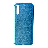 Чехол-накладка DK-Case силикон райский дождик пластик вставка для Samsung A50 (blue)