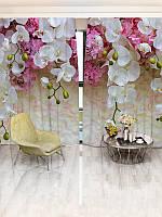 Фотошторы WallDeco Білі орхідеї (29513_1_8)