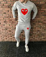 Мужской спортивный костюм, чоловічий спортивний костюм Comme Des Garcons Play S1243, Реплика