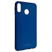 Чехол-накладка Silicone Hana Molan Cano для Samsung A40 (blue)