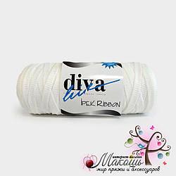 Пряжа  Риббон Ribbon Ipek Diva leine, белый