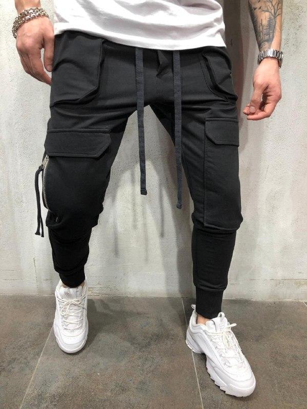 😜Мужские спортивные штаны с большими карманами Черный