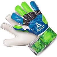 Детские вратарские перчатки Select 04 Hand Guarg сине-зелено-белые
