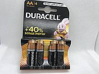 Батарейки Duracell MN1500 AA  LR6/MN1500 4/шт  до +40% больше энергии!  (AA(R6, 316)
