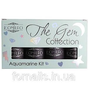 Набор Komilfo The Gem Collection Aquamarine Kit (sea wave), №017, 018, 019, 020