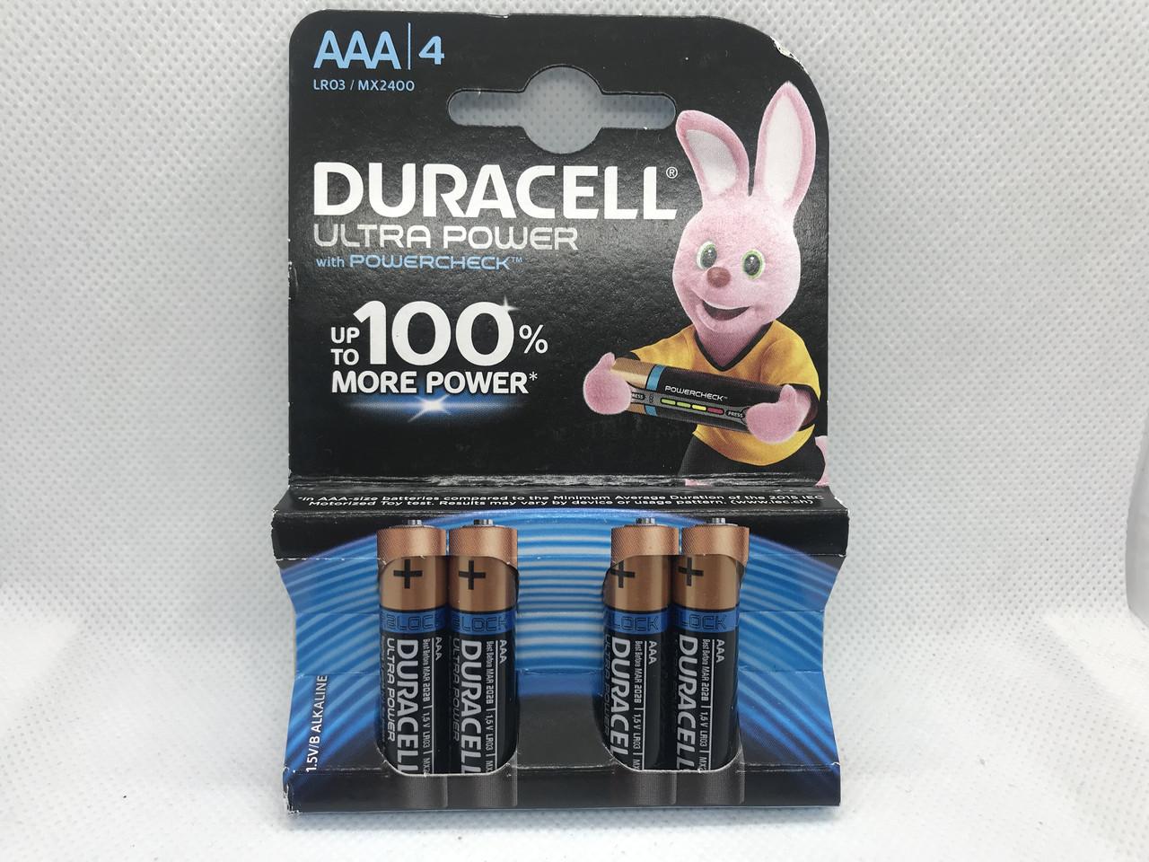 Батарейка Duracell LR03 MX2400 Ultra Power 1x4шт
