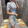 Женское комбинированное платье в расцветках. АР-26-0419, фото 2