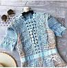 Женское комбинированное платье в расцветках. АР-26-0419, фото 4
