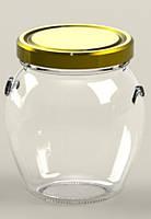 Банка стеклянная 395 мл для консервации Everglass с металлической крышкой Twist-Off