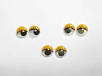 Глазки с ресничками подвижные для игрушек 12 мм
