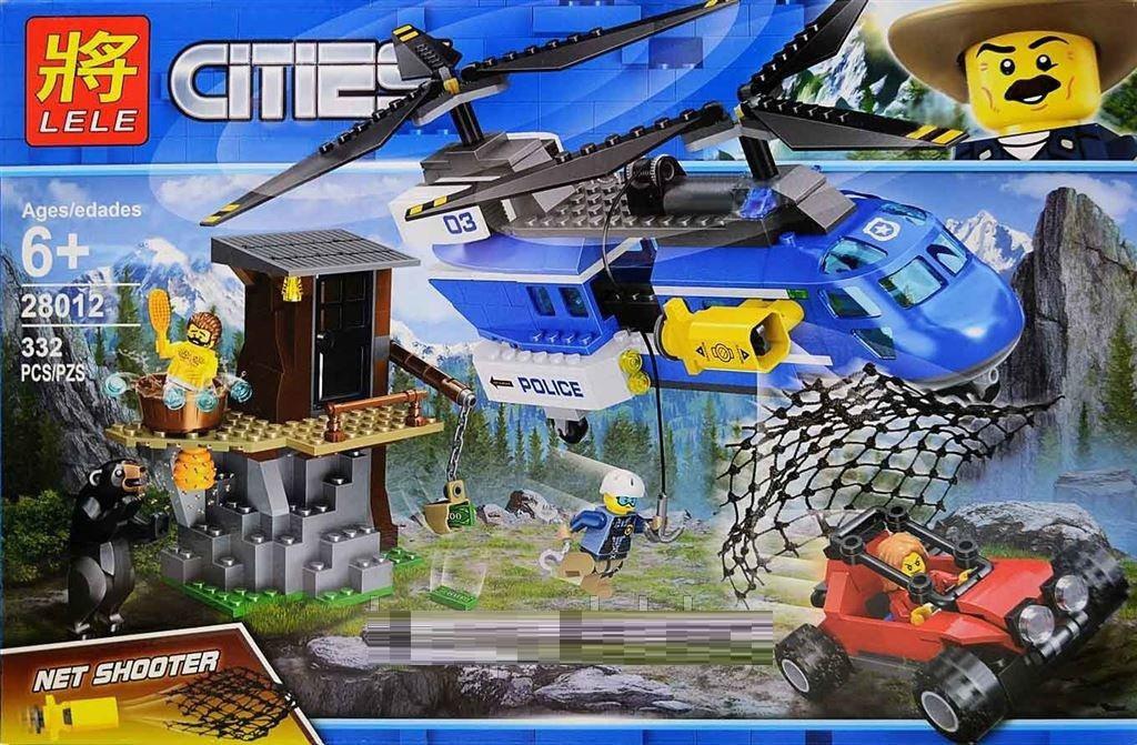 Конструктор Lele Cities Горная полиция аналог Lego City 332 дет