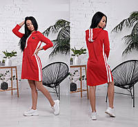 Платье-туника в спортивном стиле, красное, фото 1
