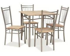Комплект столовый стол стулья деревянный кухонный обеденный на кухню дуб сонома FIT 76x76 (Signal)