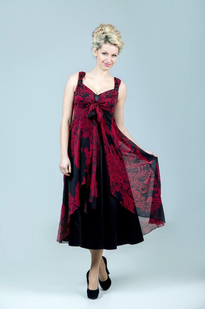 Платье-двойка с палантином женское Petro Soroka модель МС 1884-04