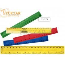 TZ 379 Линейка цветная пластиковая 20см TUKZAR