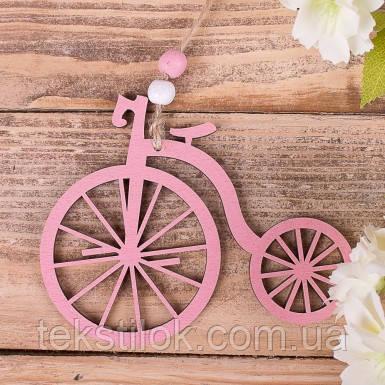 Підвіска - ретро велосипед рожевий Дрібний декор.