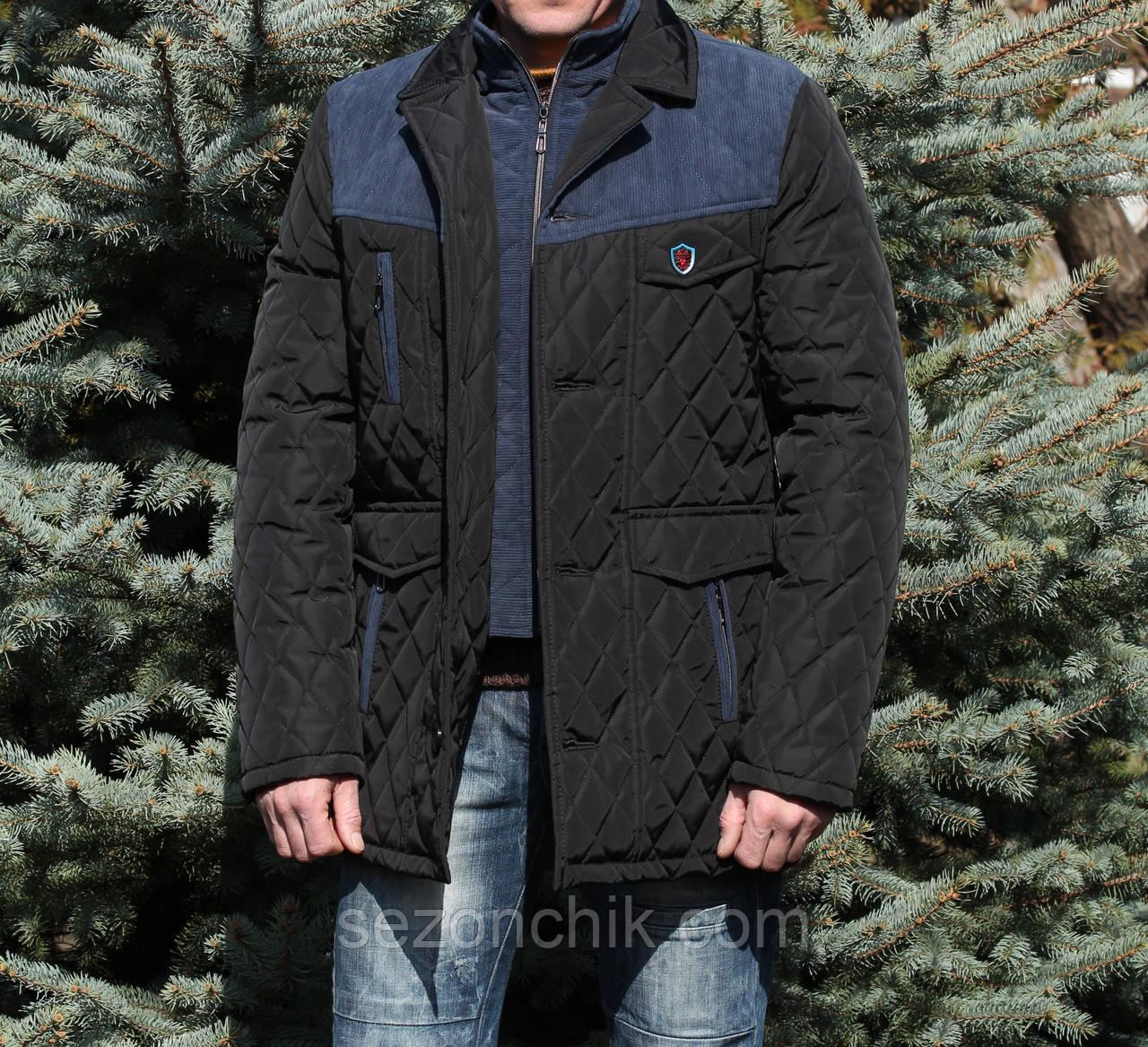 Удлиненная стёганная куртка мужская от производителя