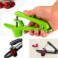 Инструмент для удаления косточек пластиковая ручная Veleka, выдавливатель косточек из вишни, вишнечистка