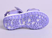 Босоножки для девочек на липучках, фото 3