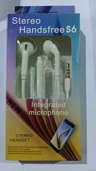 ➤Навушникы вакуумные Handsfree S6 с микрофоном