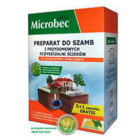 Средство для выгребных ям, септиков и дачных туалетов Bros Microbec лимон порошок 20 гр. 946
