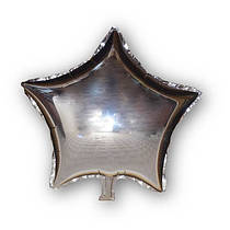 Фольгированный шар Josef Otten звезда 45х45см серебряная
