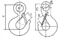 Взаимозаменяемость Крюк с проушиной, тип 320 А и Крюк чалочный, ГОСТ 25573-82 грузоподъемность от 0,6 до 22 тн