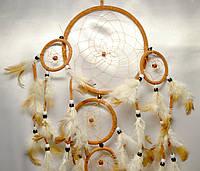 Ловец снов 5 колец - защита от плохих снов(коричневый)