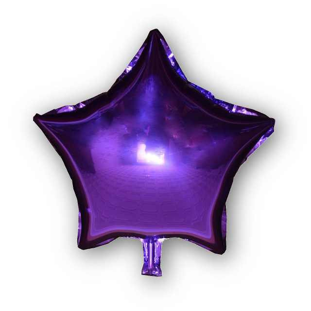 Фольгированный шар Звезда фиолетовая, 45х45см. Воздушные шарики оптом.