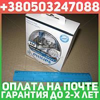 ⭐⭐⭐⭐⭐ Лампа накаливания H4 WhiteVision 12V, 60/55W, P43t-38 (+60) (4300K) 2 штуки (производство  Philips)  12342WHVSM