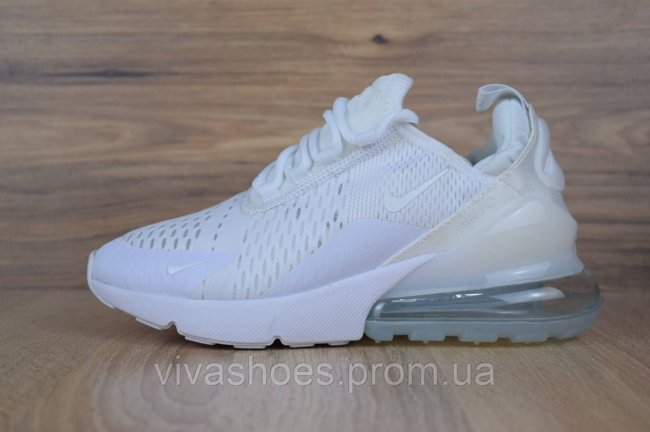646a94e2 Белые. Кроссовки мужские Nike Air Max 270 в стиле Найк Аир Макс, текстиль,  текстиль код