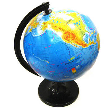 Глобус настольный диаметр 32см МаркоПоло на пластиковой ножке физический гф32