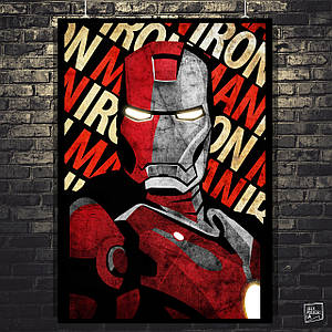 Постер Iron Man, Железный Человек. Размер 60x42см (A2). Глянцевая бумага