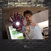 Постер Тони Старк проверяет репульсор. Размер 60x42см (A2). Глянцевая бумага