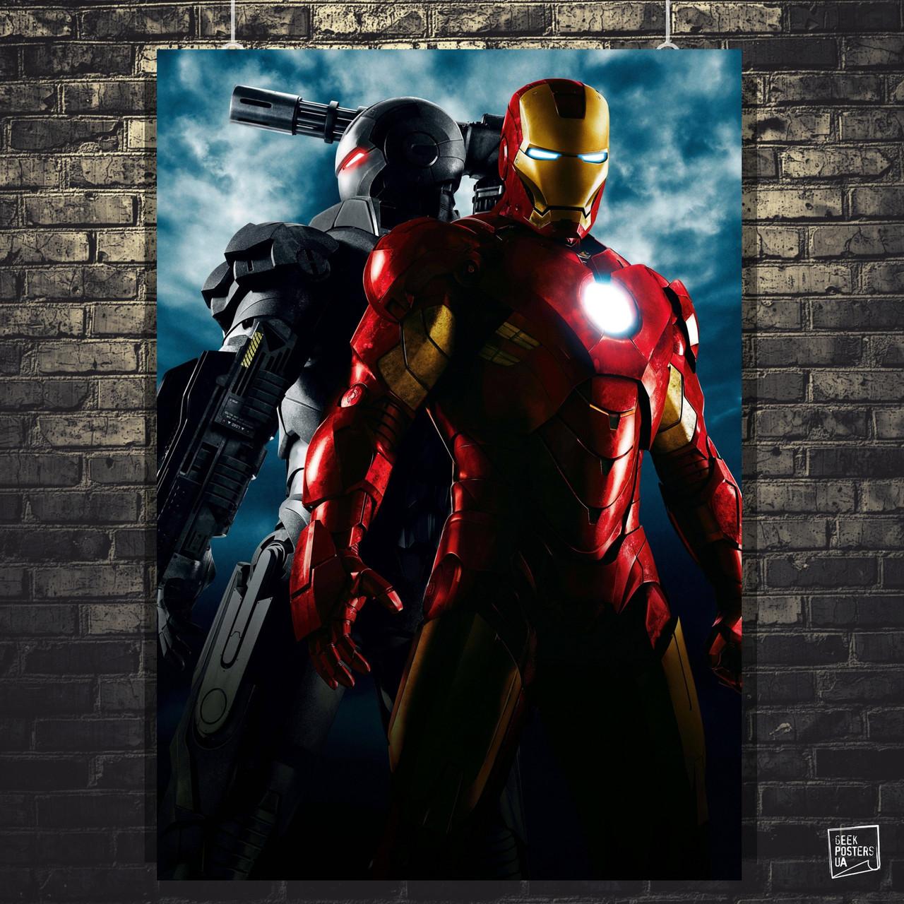"""Постер """"Iron Man и WarMachine"""". Железный Человек . Размер 60x42см (A2). Глянцевая бумага"""