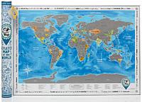Скретч-карта світу англійською мовою «Discovery Map World», фото 1