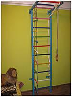 Детская спортивная стенка «Крепыш 2» [4 цвета] (спортивный инвентарь, товары, лестница, кольца, турник)