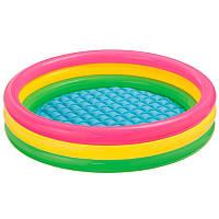 Дитячий надувний басейн Веселка Intex 57422 (147 х 33 см)