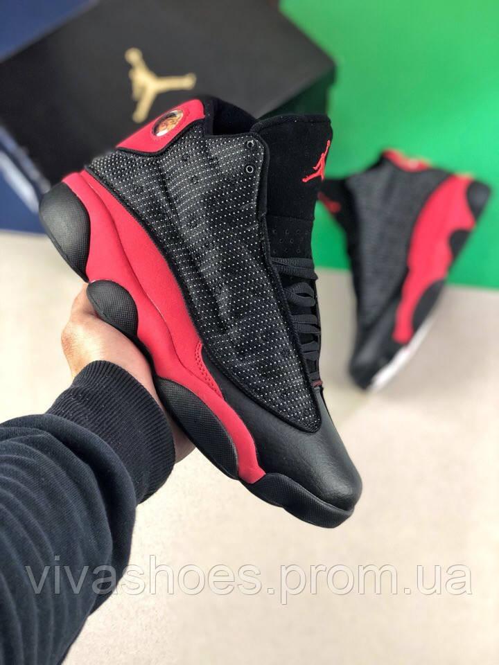 68ffc38d Кроссовки мужские Nike Jordan Retro в стиле Найк Джордан Ретро, натуральная  кожа, текстиль код