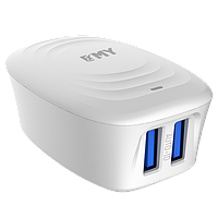 Набор 2 в 1 CЗУ With Micro-USB Cable 110-240V MY-228, 2 x USB, 5V/12W, Output: 5V/2.4A, White or Black, Blister- box