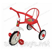 Трехколесный детский велосипед со спинкой
