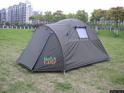 Палатка двухместная туристическая Green Camp 3006 двухслойная, фото 3