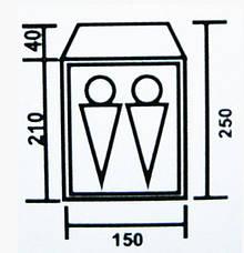 Палатка туристическая двухместная Coleman 1013 двухслойная, фото 3