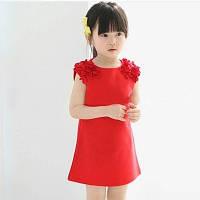 Туника-футболка для девочки красная